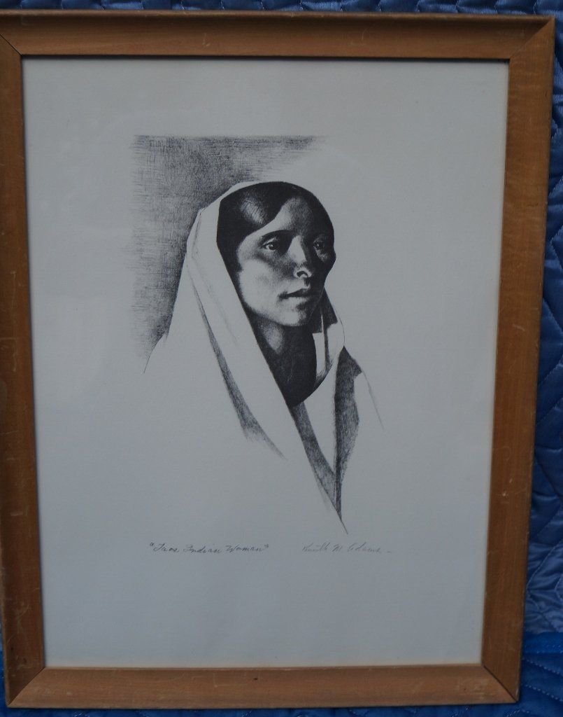 Toas Indian Native American Woman Print, Kenneth Adams