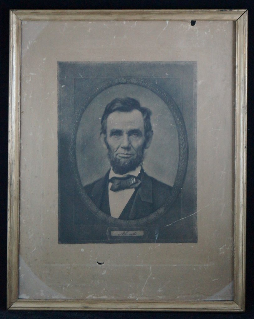Reinthal & Newman Antique Abraham Lincoln Engraving