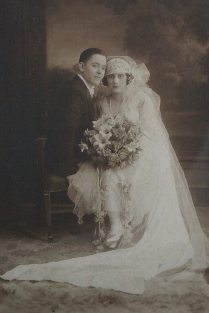 Antique Bridal Photo, Original 1920, Chicago LOT