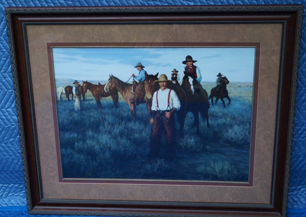 Cowboy Western Print Professionally Framed Art Gallery