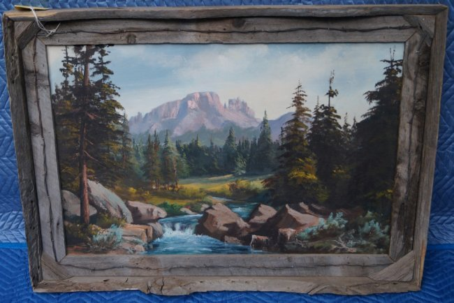 Wyoming Art Oil On Canvas Lanell Foote One of a Kind