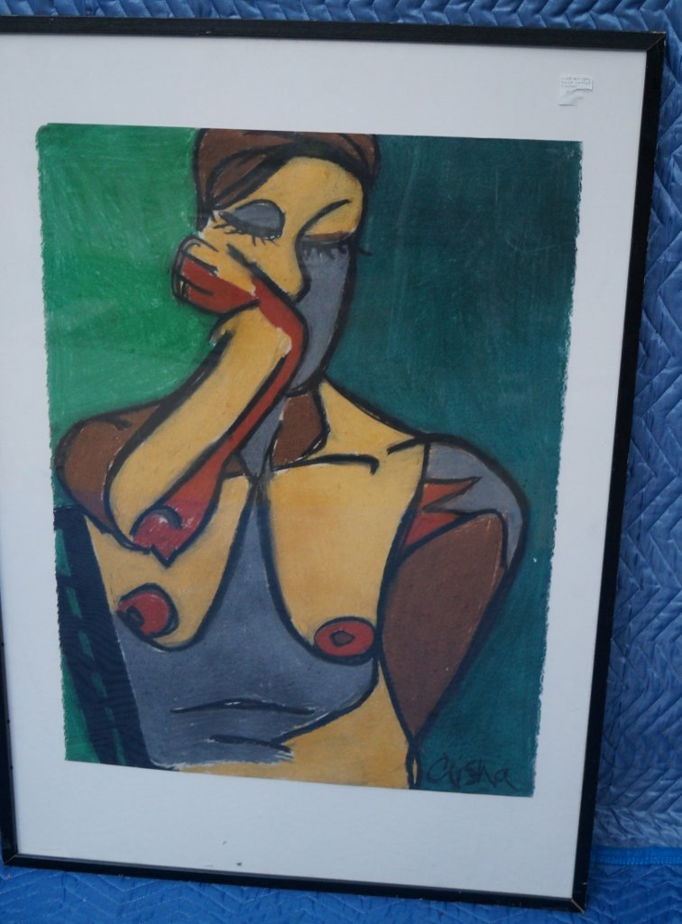 "Modern Abstract Signed Nude Art Original Piece ""Crisha"""