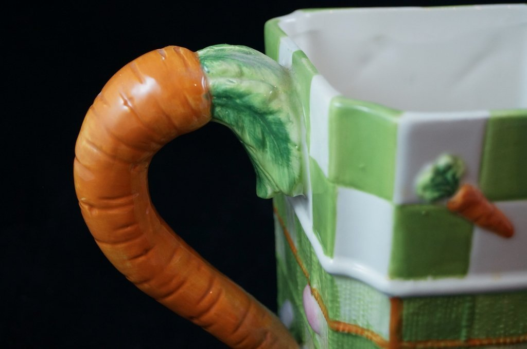 Decorative Ceramic Carrot Pitcher, Summer Vegetables