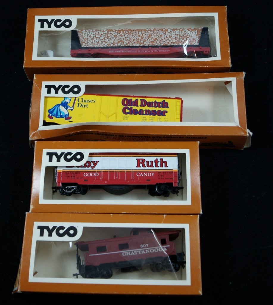 LOT Tyco HO Scale Model Electric Trains, Vintage