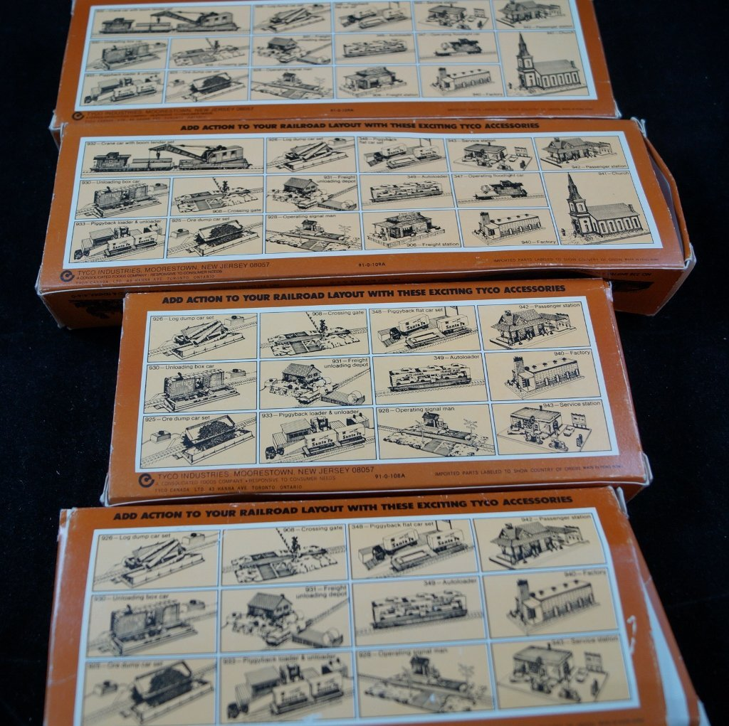 LOT Tyco HO Scale Model Electric Trains, Vintage - 4