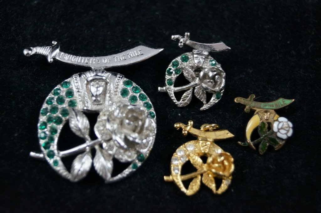 Vintage Masonic LOT Daughters of the Nile, Shriners Pin