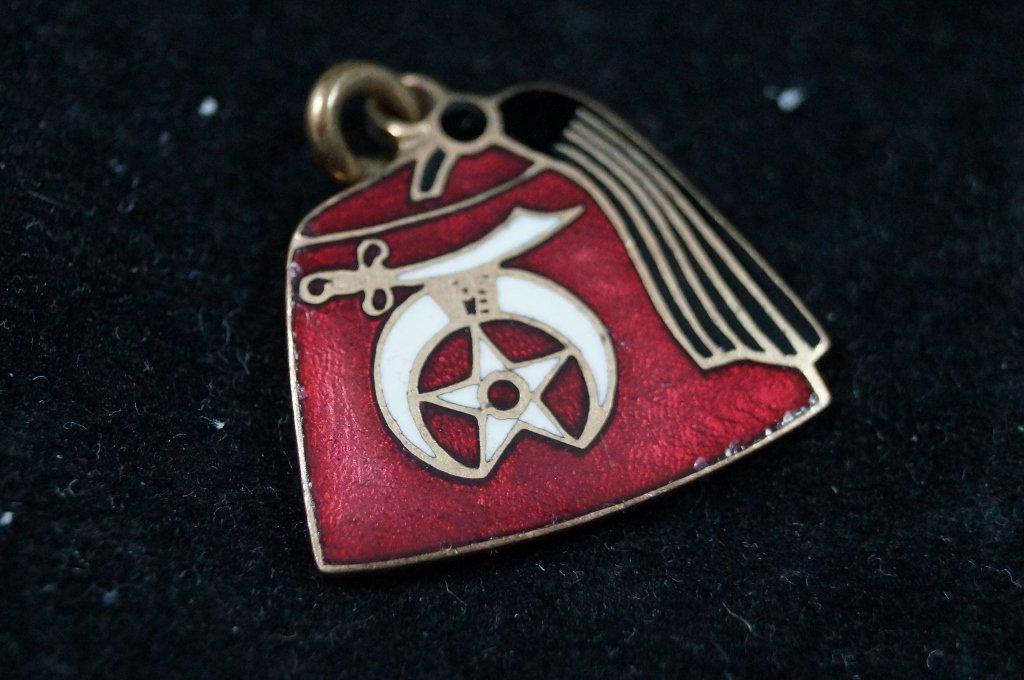 Vintage Shriners Masonic Mason Key Chain