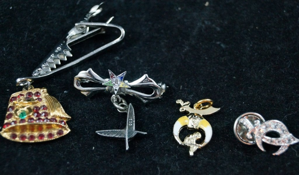 Shriners Masonic Mixed Pin Lot, ORA