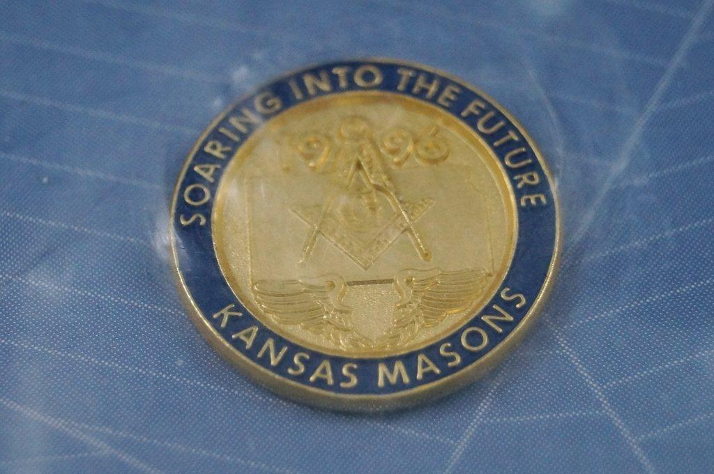 24 Gold Plated Kansas Masonic Lapel Pin