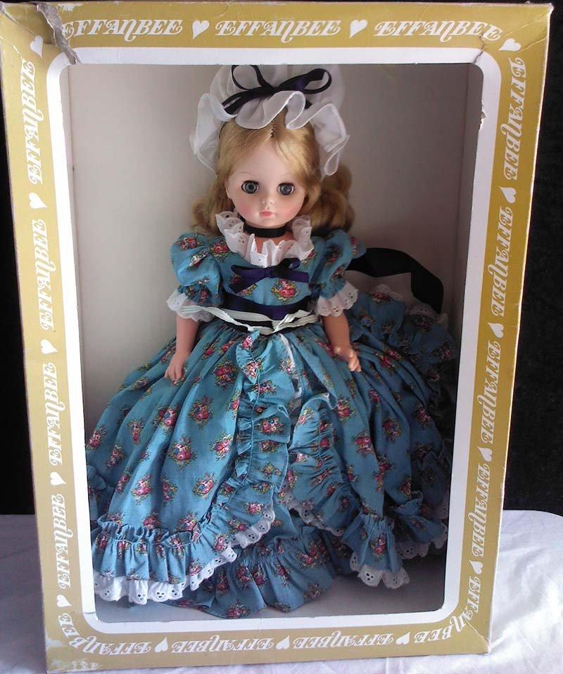 Vintage 1966 Effanbee Doll Original Prairie Dress