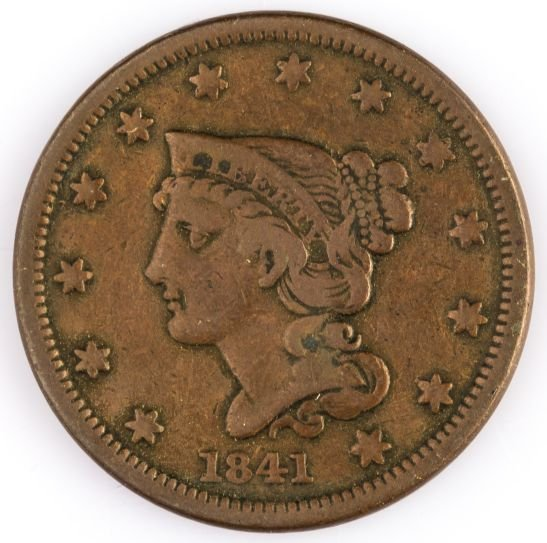 1841 LARGE CENT US COIN