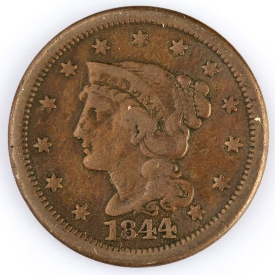 1844 LARGE CENT US COIN