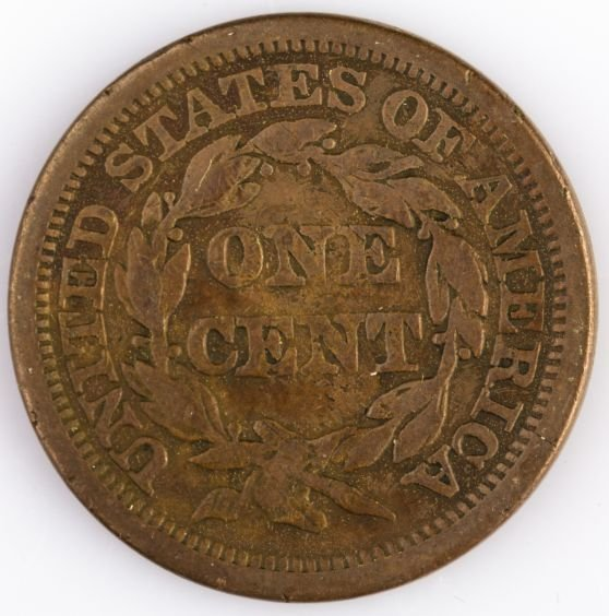 1844 LARGE CENT US COIN - 2