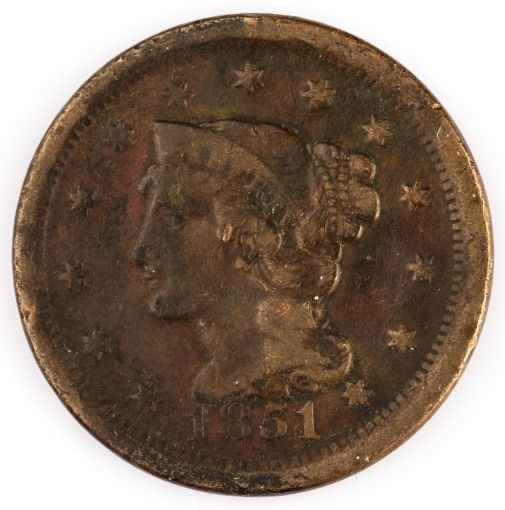 1851 US LARGE CENT COIN