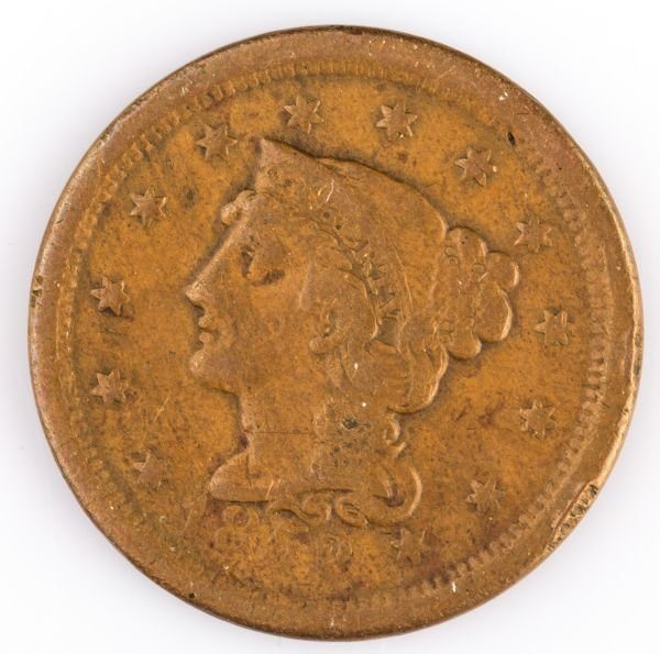1852 LARGE CENT US COIN
