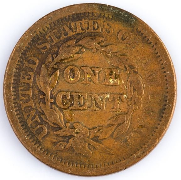 1852 LARGE CENT US COIN - 2