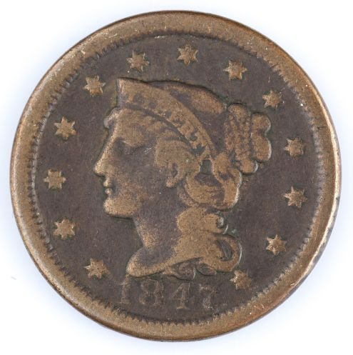 1847 LARGE CENT US COIN