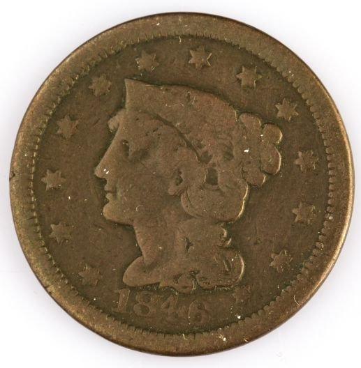 1846 LARGE CENT US COIN