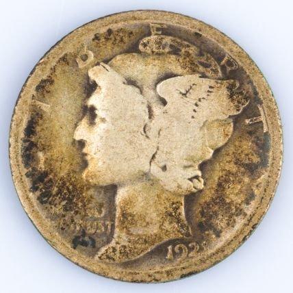 1921 MERCURY DIME US SILVER COIN
