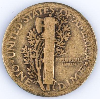 1921 MERCURY DIME US SILVER COIN - 2