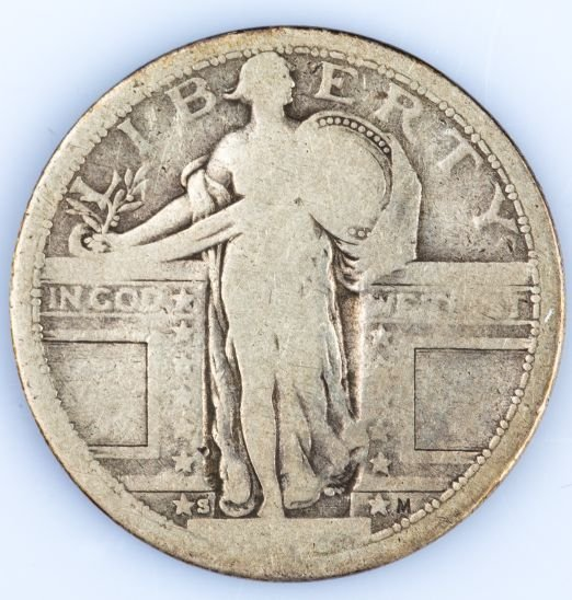 1917-S TYPE 1 STANDING LIBERTY QUARTER