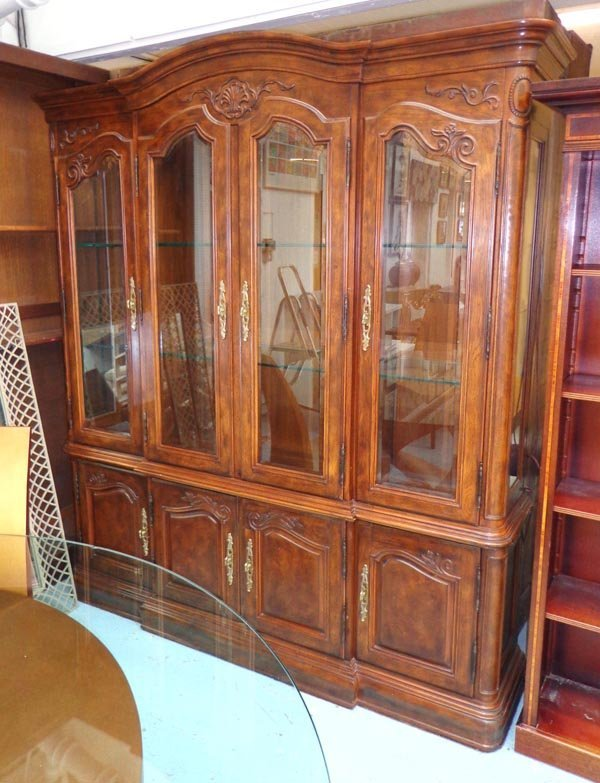 BOOKCASE/DISPLAY CABINET, Continental style, with four