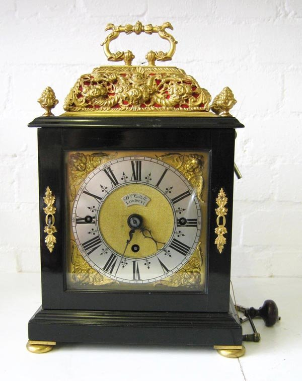 BRACKET CLOCK, Regency style, spring driven repeater..