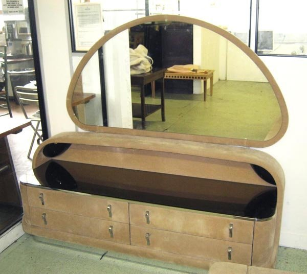 DRESSING TABLE, by Verardo, four drawers, mirrored