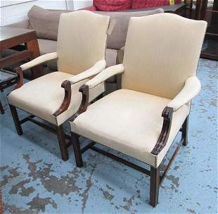 GAINSBOROUGH ARMCHAIRS, a pair, Thomas Glenister for