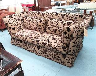 KNOLE SOFA, with a pair of drop ends in a floral and