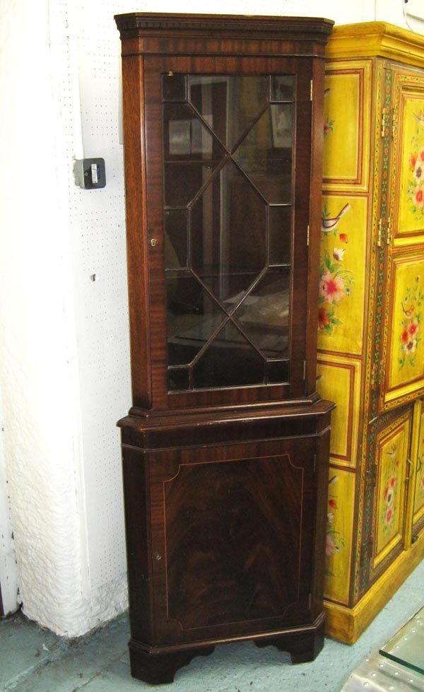 CORNER CABINET, Regency style mahogany, 185cm H x 82cm