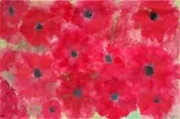 NIGEL KINGSTON (contemporary), 'Poppy field', oil/gloss