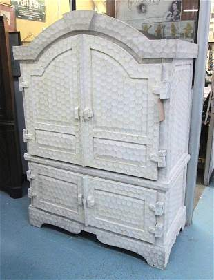 DOMED TOP CABINET, of substantial construction in an