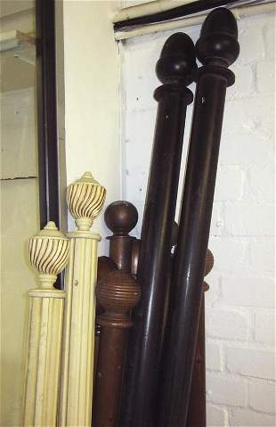 CURTAINS POLES, thirteen various examples including six