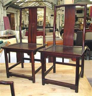DINING CHAIRS, a set of ten, in an Oriental manner,