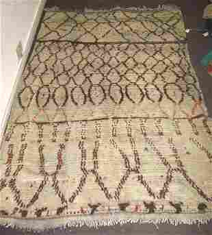 AFRICAN RUG, woven in diamond form on sand coloured