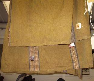 AFRICAN WALL HANGING, the khaki cloth with woven band