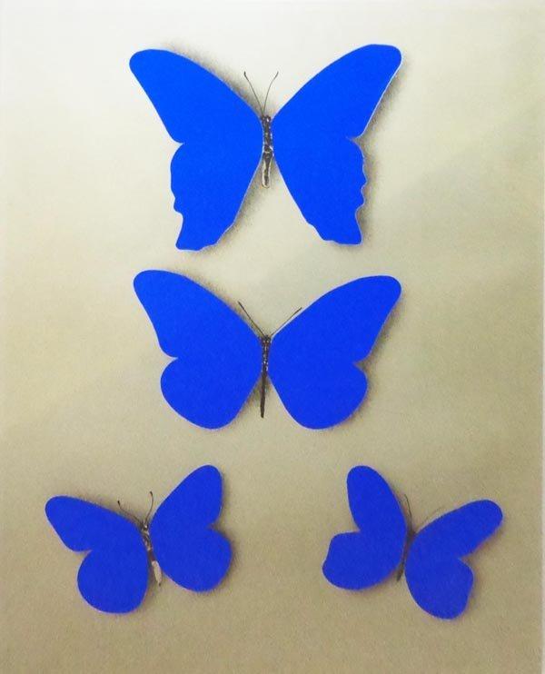 JIRÍ KOLÁR, (Czech, 1914-2002), 'Blue butterflies',