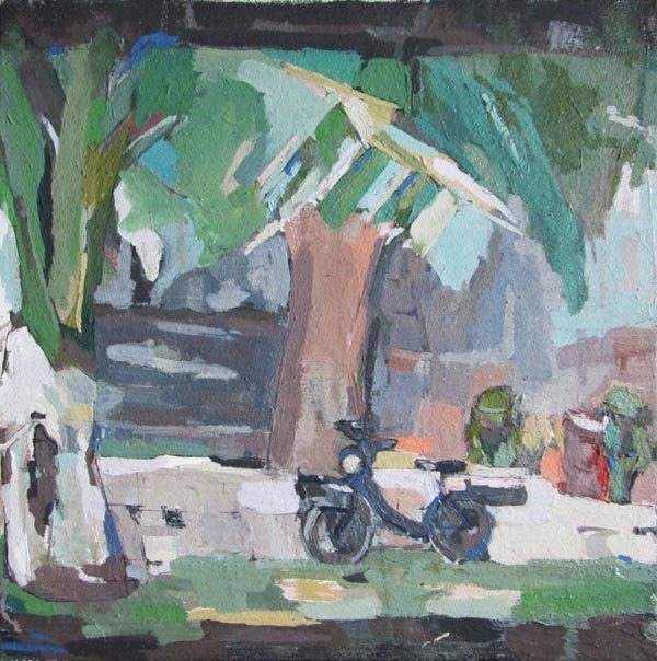 PETER RAYNOR (Contemporary), 'Park', oil on canvas,