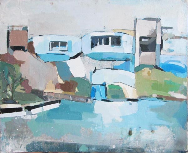 PETER RAYNOR (Contemporary), 'Abandoned buildings', oil