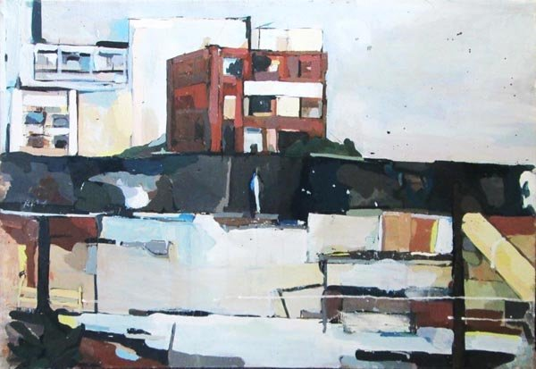 PETER RAYNOR (Contemporary), 'Urban landscape', oil on