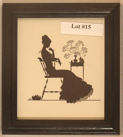 15: Wallace Nutting Silhouette - Girl Sits in Chair