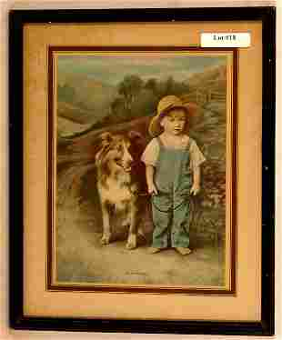 R Atkinson Fox-Style Print - Good Friends