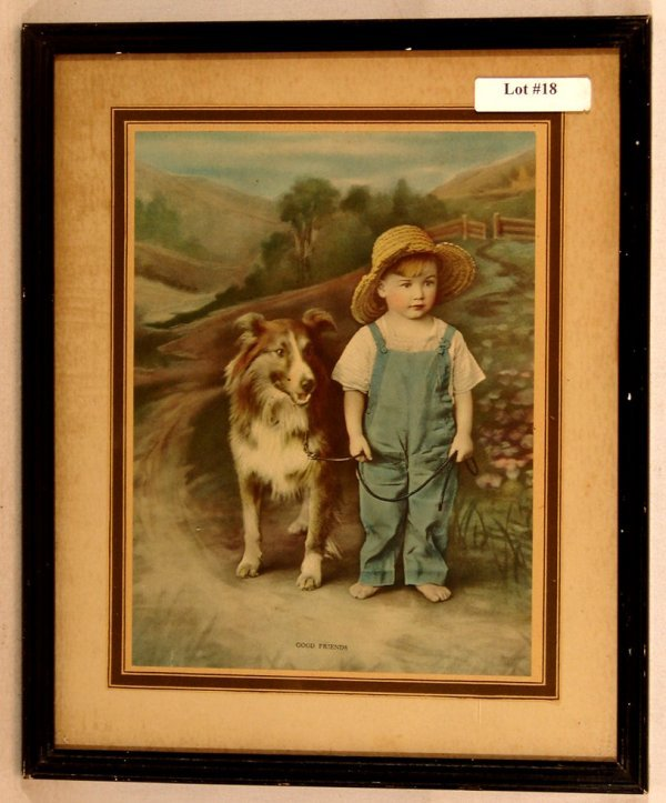 18: R Atkinson Fox-Style Print - Good Friends