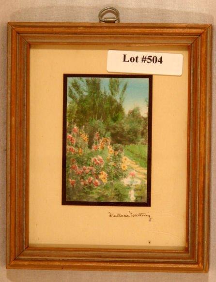 504: Wallace Nutting - Miniature Garden Scene