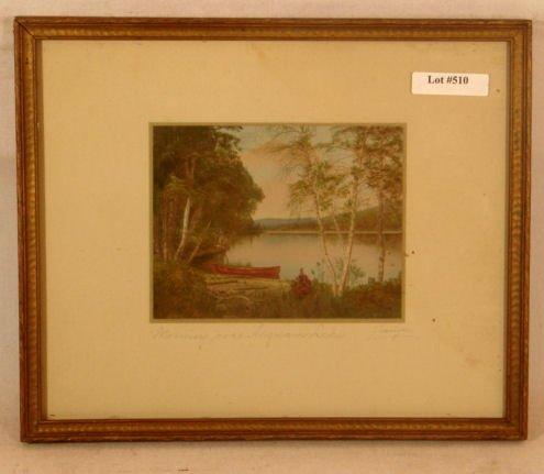 510: Charles Sawyer - Morning over Asquam Lake