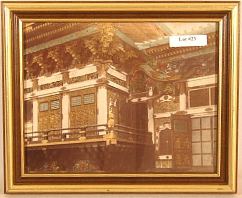 23: Japanse Hand-Colored Photo - Colorful Pagoda