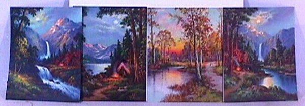 4: William M. Thompson - Lot of 4 Unframed Prints