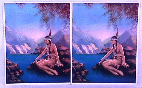 13: Lax Studio - 2 Indian Maiden Prints