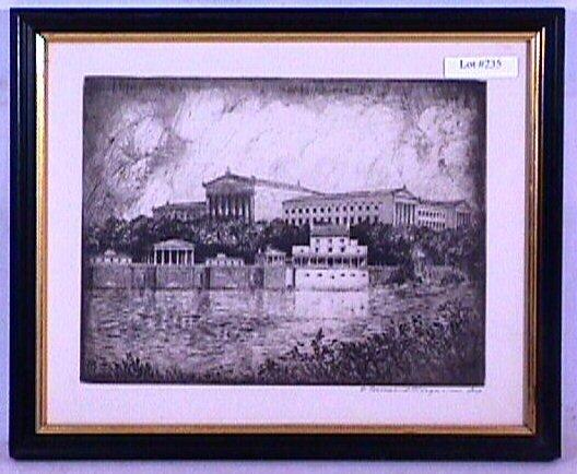 235: F. Townsend Morgan - Etching - Phila. Art Museum